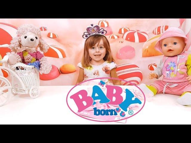 ✿ Новое платье для Беби Борн. Одежда для куклы. Видео для девочек. Сюрприз Принцессы Диснея.