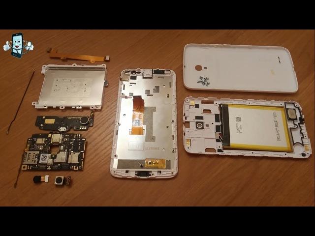 Как разобрать Alcatel One Touch Pop 2 (5) Premium 7044x Разборка, замена запчастей и ремонт телефона