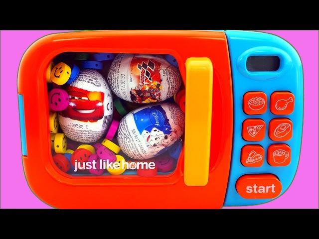 Microwave Just Like Home Surprise Egg Disney Car Finding Dory Paw patrol Mickye Mouse Nursery Rhymes