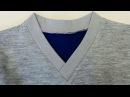 DIY Sewing course How to sew a V Neckline T shirt Jak uszyć serek na zakładkę w koszulce