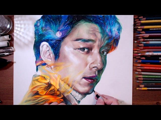 Dokkaebi : Kim Shin(Gong Yoo) - Colored pencil drawing | drawholic