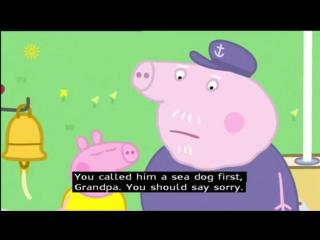 Peppa pig (series 1) - grandpa pigs boat (with subtitles)