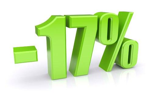 СЕГОДНЯ Каждое 17 число СКИДКА 17% на ВЕСЬ ассортимент!!!  Действуе