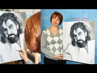 Фото с мастер-классов живописи маслом в Студии