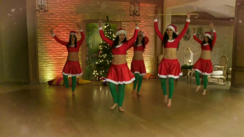 Rada Dance Art_ Merry Belly Christmas Happy New Year! Jingle Bells!