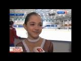 Evgenia Medvedeva at Moscow Jr. Championship (Rossiya 2), 2012 + interview