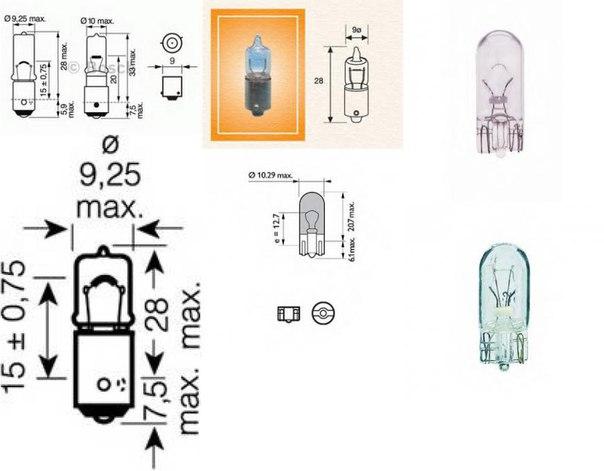 Лампа накаливания, задний гарабитный огонь для BMW 6 купе (F13)