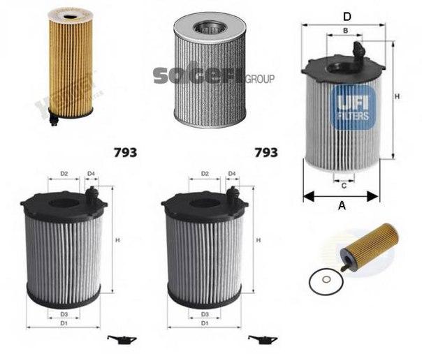 Масляный фильтр для BMW X3 (F25)