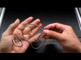 H065 Big Snail Ring Puzzle, Magic Trick Ring Solution Games