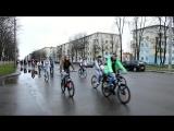 Колонна велосипедистов. Открытие велосезона 2017 в Солигорске