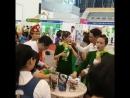 @Regrann from @ Дегустация нашего коктейля и протеинового шейка на выставке Во Вьетнаме везде даже в супермарке