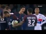 Neymar, Dani Alves vs Cavani