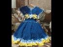 Платье на девочку крючком Часть № 1. Мастер класс