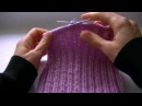 Вязание шапки градиентом узором коса с 9 петель Knitting hats gradient pattern plait with 9 loops