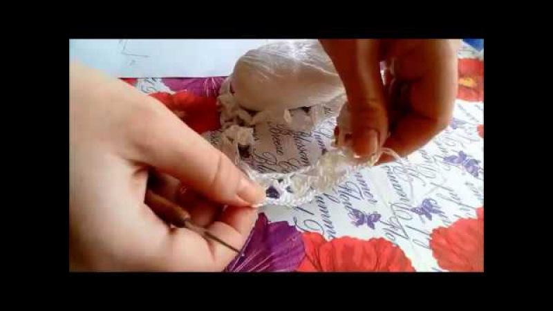 Подробный мастер-класс по вязанию платья для девочки крючком с фатиновой юбочкой. часть 1