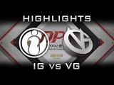 IG vs VG DPL 2017 Highlights Dota 2