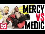 MERCY VS MEDIC RAP BATTLE by JT Machinima