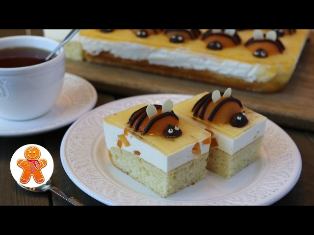 Пирог Абрикосовые Пчёлки ✧ Apricot Bees Cake (English Subtitles)