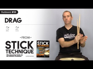 Top-10 Rudiments, Part 10: Drag (Video Drum Lesson from Modern Drummer magazine)