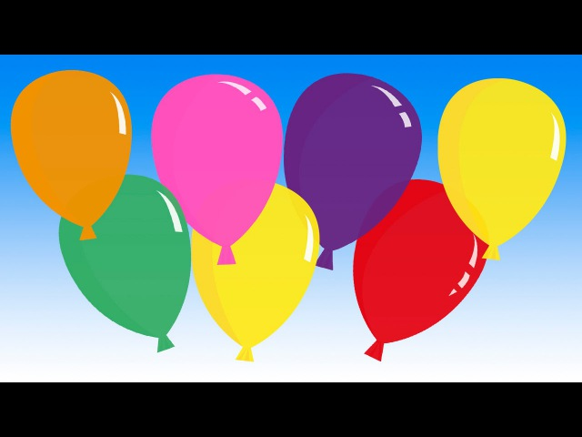 Pretty Balloons (balloon song for learning colors)