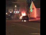 В центре Краснодара потушили горящий внедорожник