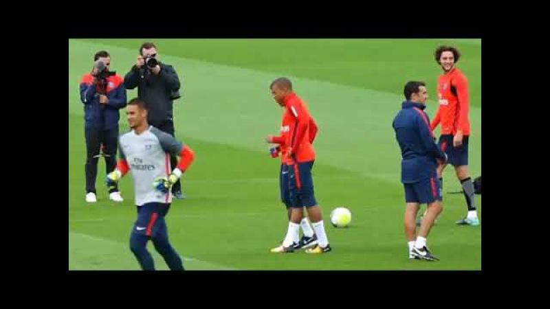 Mbappé et Neymar déjà potes au psg ! premier entrainement commun