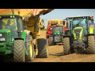 Kartoffelernte | ROPA GRIMME, JOHN DEERE 6R, 7R | CLAAS Axion 830 | Agrar - Impressionen
