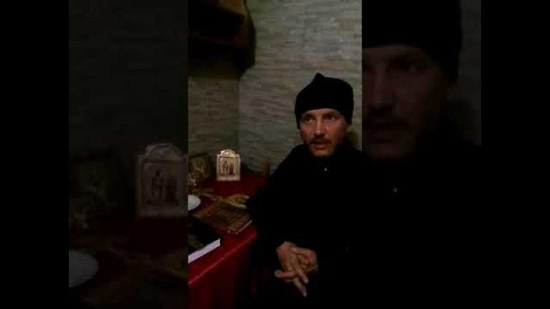 Слово отца Киприана (Небога) после пострига 01.08.2017