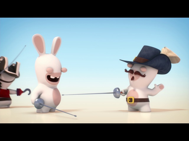 Rabbids Invasion - Fencing, the 3 weapons (1 MINUTE, 1 SPORT)