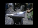 Forging a knightly sword from a semi truck leaf spring part 1.