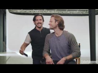Джаред и Майло Вентимилья на съёмках фотосессии Девочек Гилмор