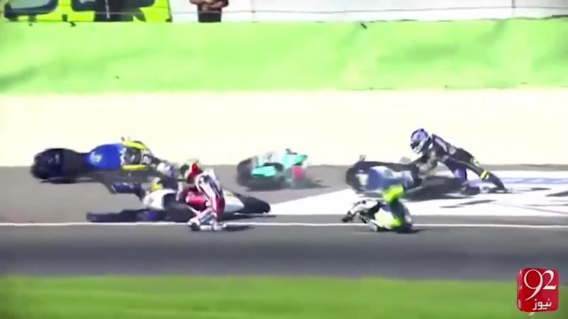 Moto GP crash 2016