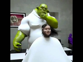 Shreks brother is a hairdresser
