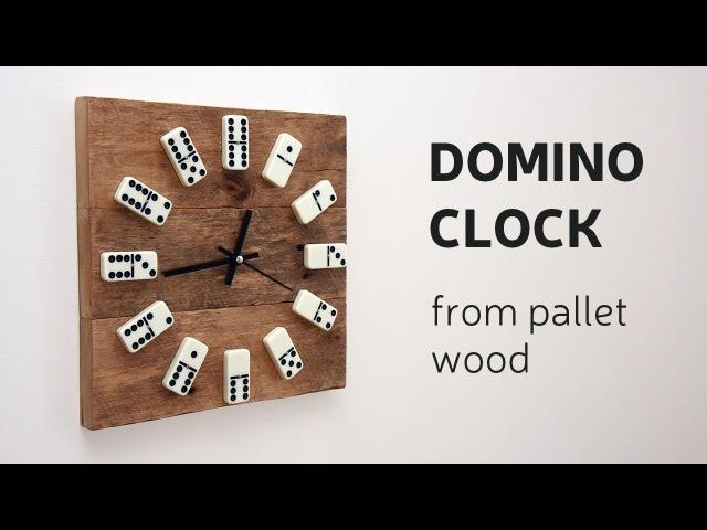 DIY Domino Clock From Pallet Wood