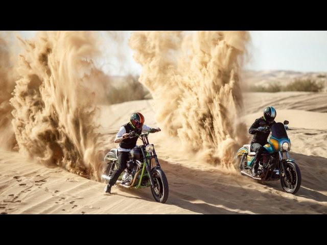 Best riders perform massive jumps on sand dunes