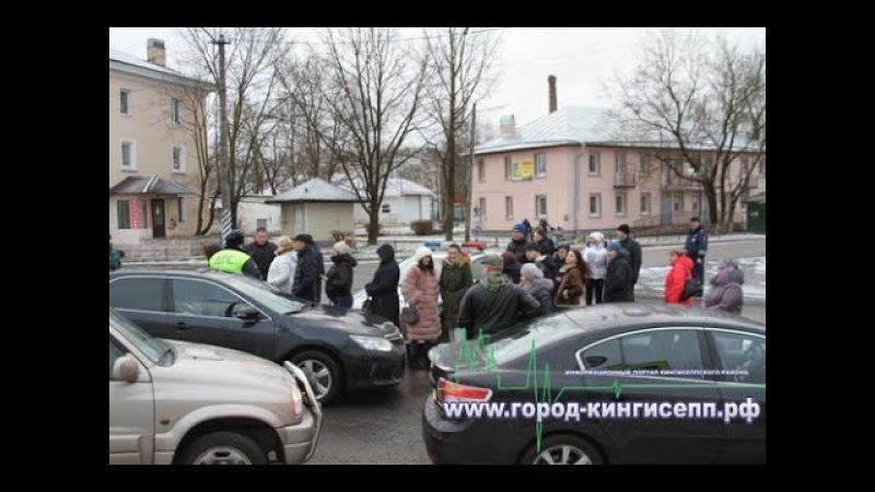 Беспрецедентные пробки и накал страстей в г. Ивангороде