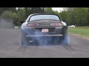 1000HP TOYOTA SUPRA TURBO 2JZ BURNOUT DRAG RACE!