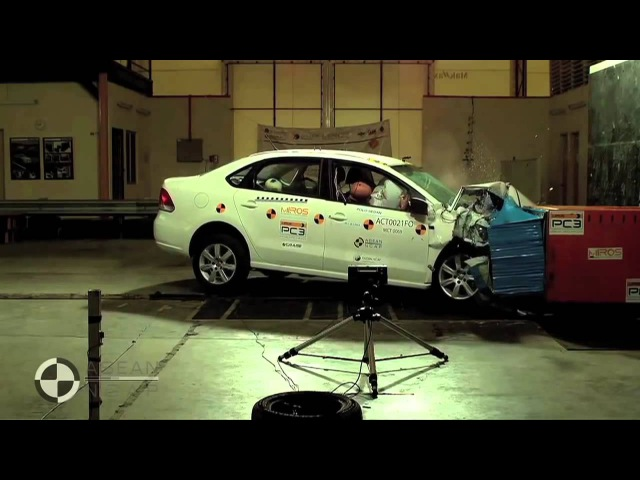 КРАШ ТЕСТ ФОЛЬКСВАГЕН ПОЛО VW Polo Sedan crash test 4 star safety rating