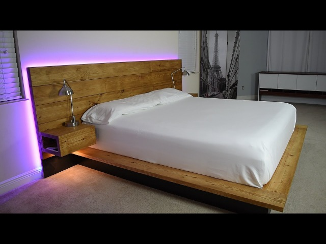 DIY Platform Bed With Floating Night Stands (Plans Available)