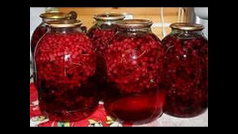 Как приготовить компот из ЧЁРНОЙ и КРАСНОЙ СМОРОДИНЫ на зиму.