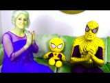 Человек паук и цветные какашки пранк Эльза и Джокер - Spiderman Poo with Frozen Elsa Joker
