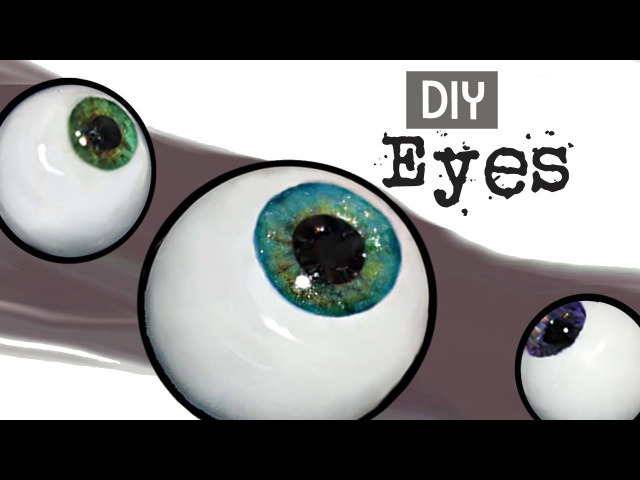 How to Make Easy Glass Eyes For Dolls