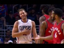 Blake Griffin Hits Cory Joseph In The Face With a Shoe