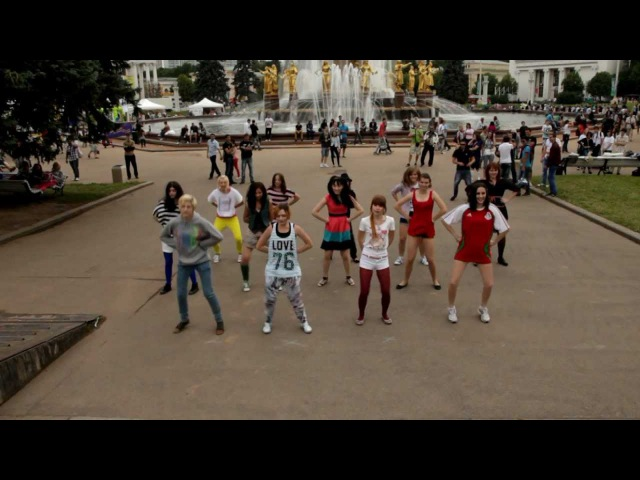 [LIKE THIS] Wonder Girls - Like This (flashmob MOSCOW)
