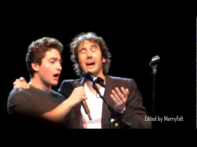 A young man in the audience sings with Josh Groban shocks him! - Josh Page (FORTE on AGT)