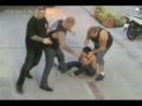 Watch 3 Hells Angels mercilessly beat a man in the street | Aussie bikers in Thailand