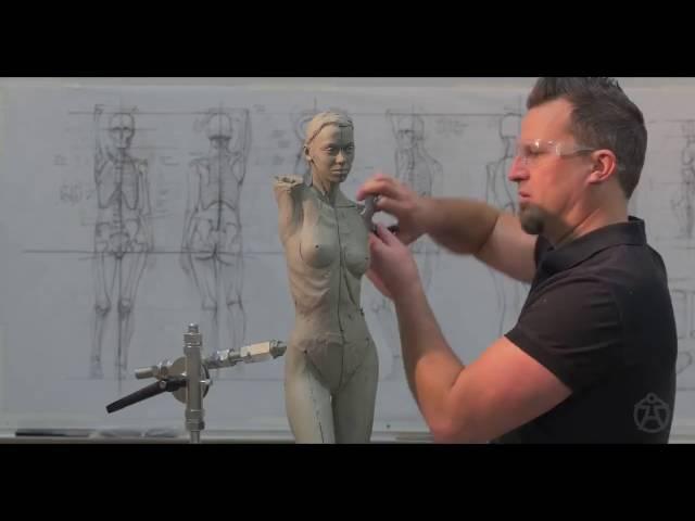 Демонстрационный пример лепки скульптуры Инструктором Эндрю Cawrse