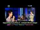 Eng 100911 Muzit - Kyuwooks congratulation and bday song for Yesung
