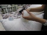 Подушка с наполнителем из искусственного лебяжьего пуха