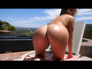 Alexis Adams (Step Brother Caught Peeping By Step Sister By The Pool)[2017, Sex, Blowjob, Busty, Natural, Cum In Mouth,HD 1080p]